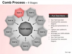 PowerPoint Backgrounds Circular Flow Diagram Ppt Template