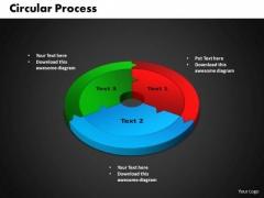 PowerPoint Backgrounds Circular Process Teamwork Ppt Slides