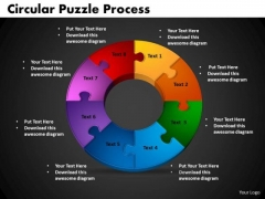 PowerPoint Backgrounds Circular Puzzle Process Business Ppt Presentation