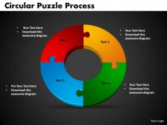 PowerPoint Backgrounds Circular Puzzle Process Editable Ppt Slides