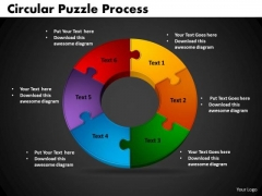 PowerPoint Backgrounds Circular Puzzle Process Marketing Ppt Slides