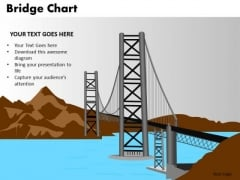 PowerPoint Backgrounds Company Bridge Chart Ppt Slides