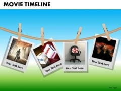 PowerPoint Backgrounds Company Designs Targets Movie Timeline Ppt Presentation Designs