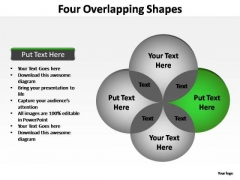 PowerPoint Backgrounds Company Four Overlapping Ppt Slides