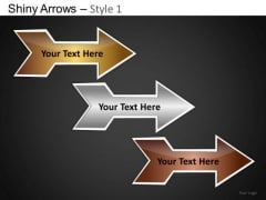 PowerPoint Backgrounds Company Leadership Shiny Arrows Ppt Slides