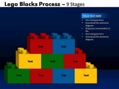 PowerPoint Backgrounds Company Lego Blocks Ppt Template