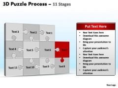 PowerPoint Backgrounds Company Puzzle Process Ppt Design