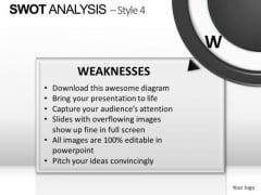 PowerPoint Backgrounds Company Swot Analysis Ppt Theme