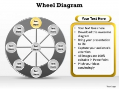 PowerPoint Backgrounds Company Wheel Diagram Ppt Designs