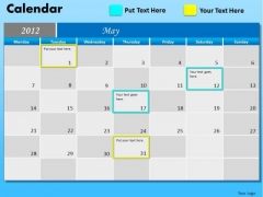 PowerPoint Backgrounds Corporate Teamwork May Calendar 2012 Ppt Process