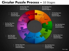 PowerPoint Backgrounds Cycle Chart Circular Puzzle Ppt Layout