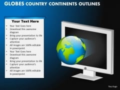PowerPoint Backgrounds Diagram Globes Country Ppt Slide