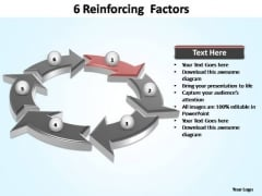 PowerPoint Backgrounds Diagram Reinforcing Factors Ppt Backgrounds