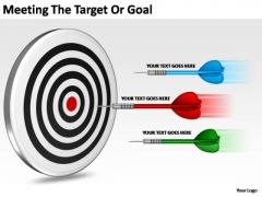 PowerPoint Backgrounds Diagram Target Or Goal Ppt Template