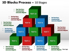 PowerPoint Backgrounds Download Blocks Process Ppt Template