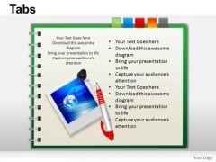 PowerPoint Backgrounds Download Tabs Ppt Process