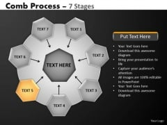 PowerPoint Backgrounds Editable Hub And Spokes Process Ppt Slides