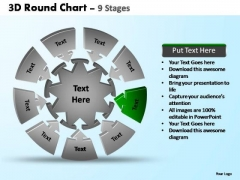 PowerPoint Backgrounds Editable Pie Chart With Arrows Ppt Presentation