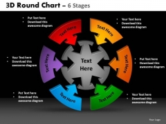 PowerPoint Backgrounds Editable Round Chart Ppt Template