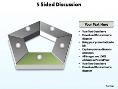 PowerPoint Backgrounds Editable Sided Discussion Ppt Theme