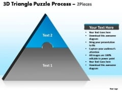 PowerPoint Backgrounds Editable Triangle Puzzle Ppt Theme