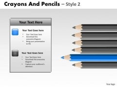 PowerPoint Backgrounds Education Crayons And Pencils Ppt Presentation