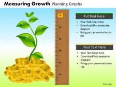 PowerPoint Backgrounds Education Measuring Growth Ppt Slide