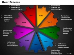 PowerPoint Backgrounds Gear Process Leadership Ppt Slides