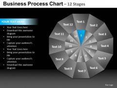 PowerPoint Backgrounds Graphic Pie Chart Ppt Theme