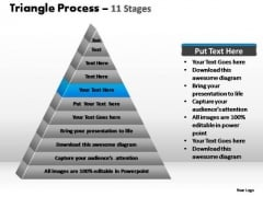 PowerPoint Backgrounds Graphic Triangle Process Ppt Template