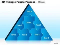 PowerPoint Backgrounds Graphic Triangle Puzzle Ppt Slide
