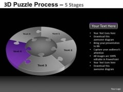 PowerPoint Backgrounds Growth Pie Chart Puzzle Process Ppt Design