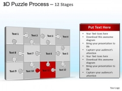 PowerPoint Backgrounds Growth Puzzle Process Ppt Slides
