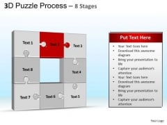 PowerPoint Backgrounds Growth Puzzle Process Ppt Template