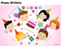 PowerPoint Backgrounds Happy Birthday Kids PowerPoint Templates