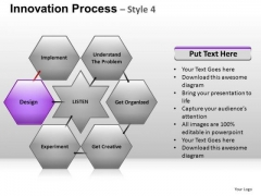 PowerPoint Backgrounds Hexagon Chart Ppt Template