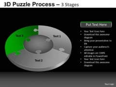PowerPoint Backgrounds Image Pie Chart Puzzle Process Ppt Template