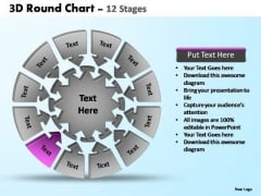 PowerPoint Backgrounds Image Pie Chart With Arrows Ppt Themes
