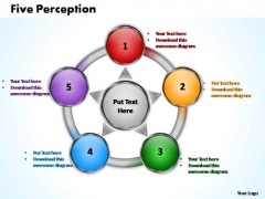 PowerPoint Backgrounds Leadership Five Perception Ppt Template
