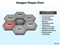 PowerPoint Backgrounds Leadership Hexagon Shapes Ppt Template