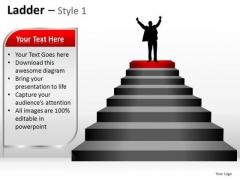 PowerPoint Backgrounds Leadership Ladder Ppt Design Slides