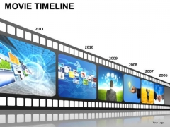 PowerPoint Backgrounds Leadership Movie Timeline Ppt Process