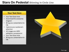 PowerPoint Backgrounds Leadership Pedestal Shinning Ppt Layout