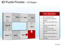 PowerPoint Backgrounds Leadership Puzzle Process Ppt Template