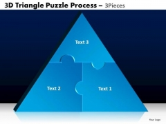 PowerPoint Backgrounds Leadership Triangle Puzzle Ppt Presentation