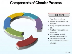 PowerPoint Backgrounds Marketing Circular Process Ppt Design Slides