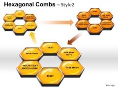 PowerPoint Backgrounds Marketing Hexagonal Combs Ppt Template