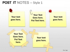 PowerPoint Backgrounds Marketing Post It Notes Ppt Themes