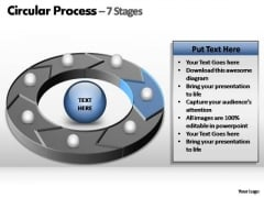 PowerPoint Backgrounds Process Circular Process Ppt Themes