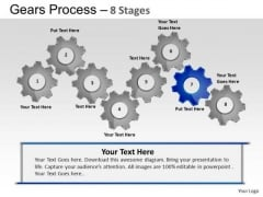 PowerPoint Backgrounds Process Gears Process Ppt Presentation